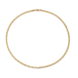 Anita Ko Cuban Link Necklace with Diamond Center