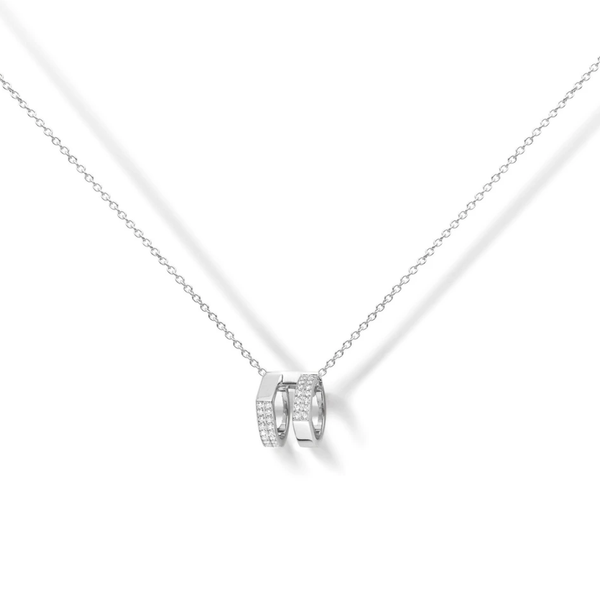 Repossi Antifer Off-Width 2 Diamond Row Pendant