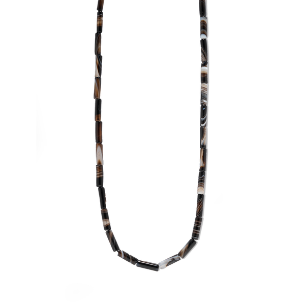 Azlee Black Agate Bead Necklace