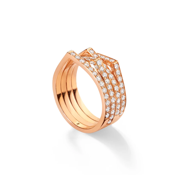 Repossi Antifer 4 Pave Rows Ring
