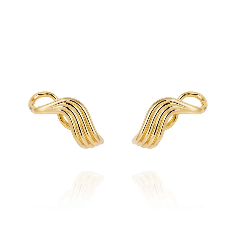 Fernando Jorge Stream Lines Lobe Earrings