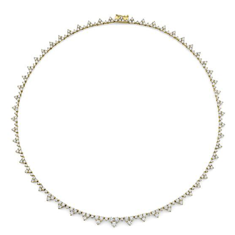 Anita Ko Triangle Eternity Diamond Choker