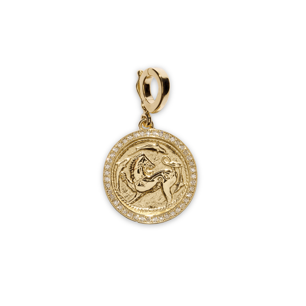 Azlee Small Pave Animal Kingdom Coin Charm