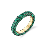 Shay 3 Sided Emerald Eternity Band Ring