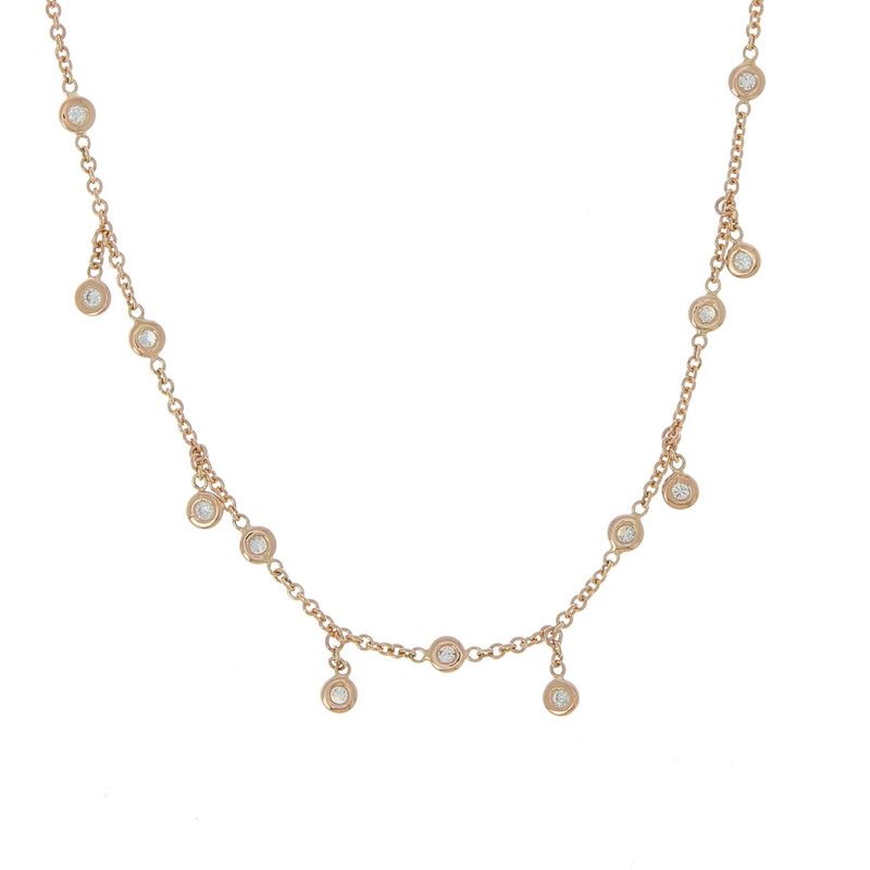 Jacquie Aiche Spaced Out Half Diamond Shaker Necklace