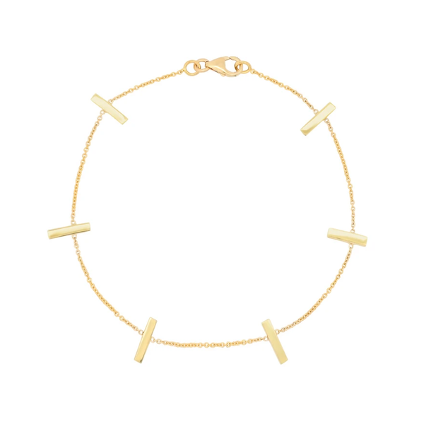 Jennifer Meyer Cross Bar Bracelet