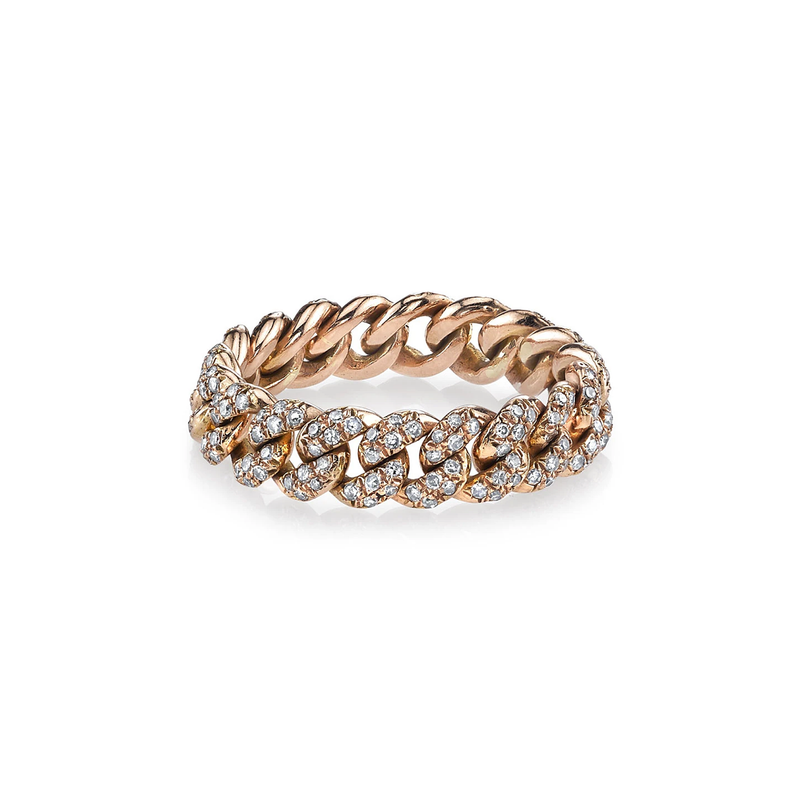 Shay Essential Pave Diamond Link Ring