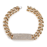 Shay Essential Pave ID Link Bracelet