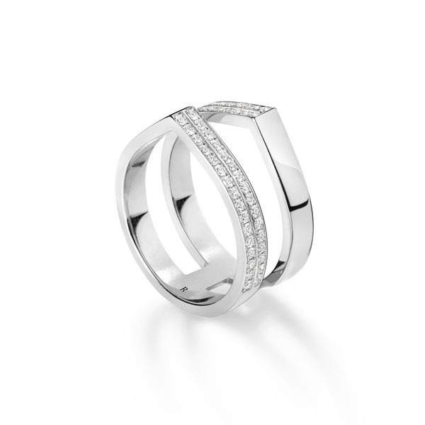 Repossi Antifer Off-Width Partial Pave Ring