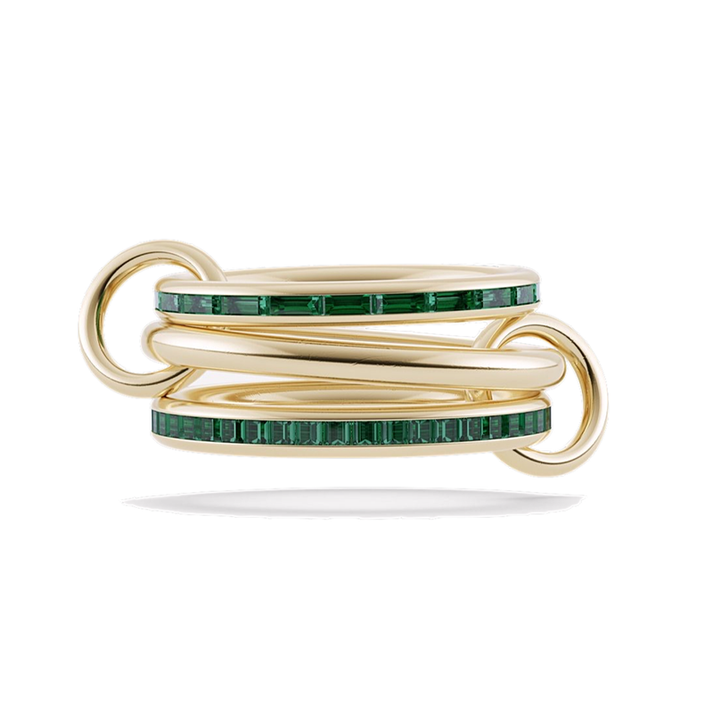 Spinelli Kilcollin MOZI EMERALD 3 linked rings