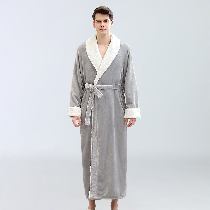 Coral Fleece Plus Size Bathrobe