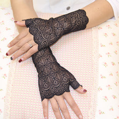 Lace Half Finger Gloves