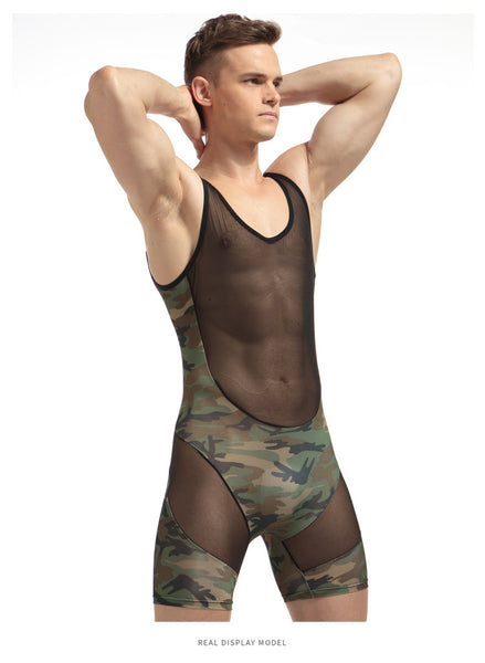 Men's Camouflage Bodysuit