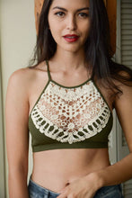 Load image into Gallery viewer, Crochet Lace High Neck Bralette