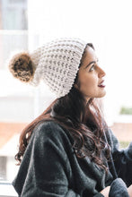 Load image into Gallery viewer, Textured Beanie With Pom Pom