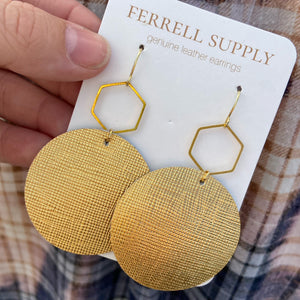 Round Leather Earrings Ferrell Supply