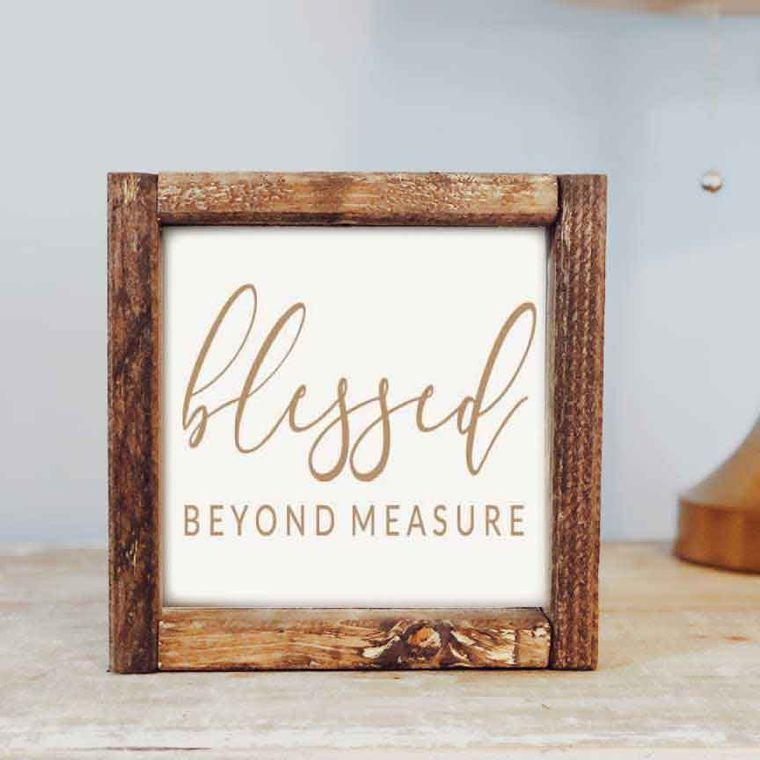 Blessed Beyond 7x7 Sign