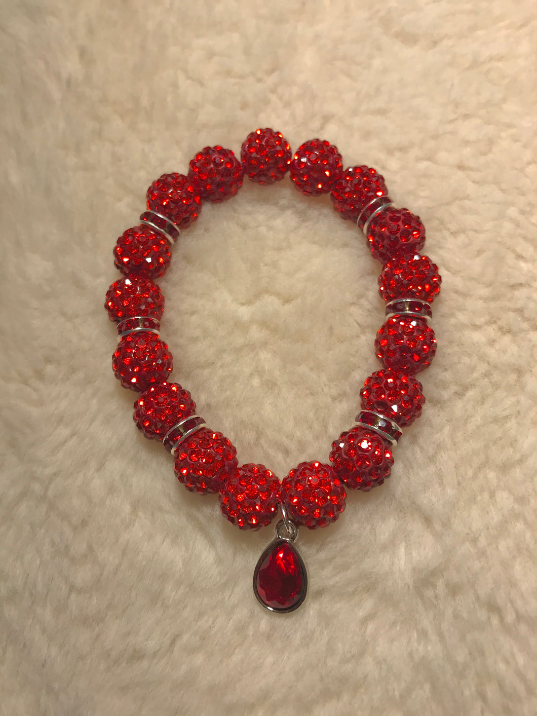 Red Crystal Birthstone Bracelet