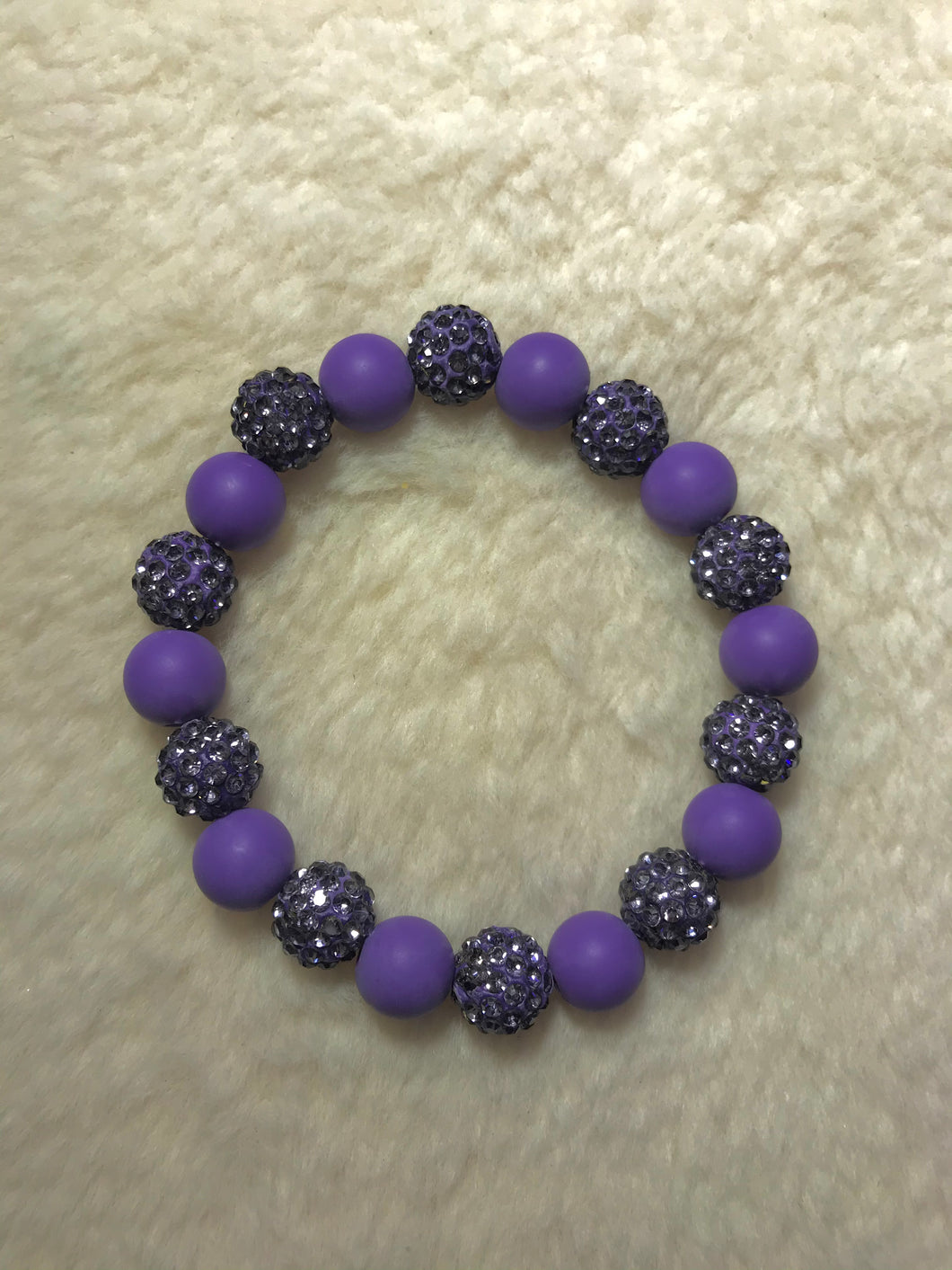 Purple Disco Ball Bracelet