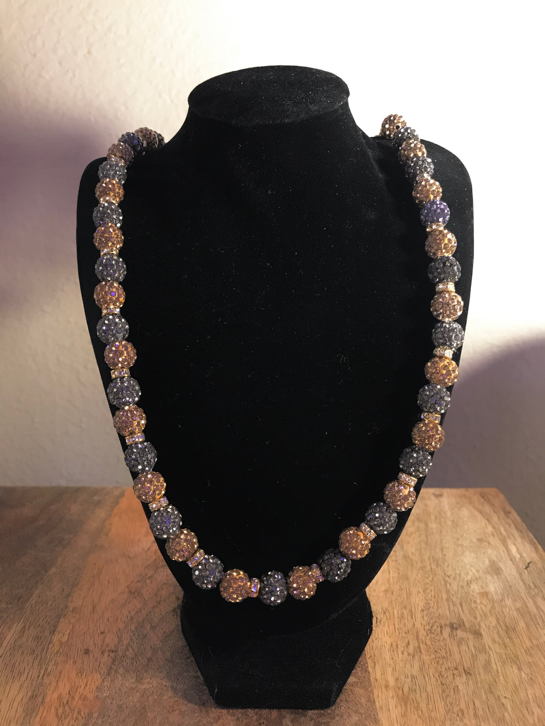 Icy Desert Disco Ball Necklace