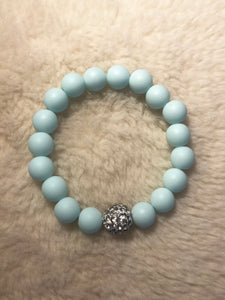 Powder Blue and Silver Bracelet