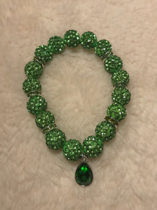 Green Crystal Birthstone Bracelet