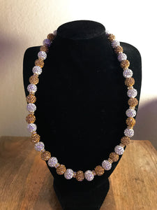 Crystal Icy Disco Ball Necklace
