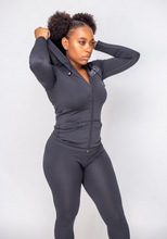Load image into Gallery viewer, On The Run Track Suit (Dark Grey)