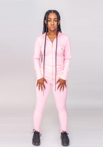 On The Run Track Suit (Pink)