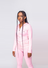 Load image into Gallery viewer, On The Run Track Suit (Pink)