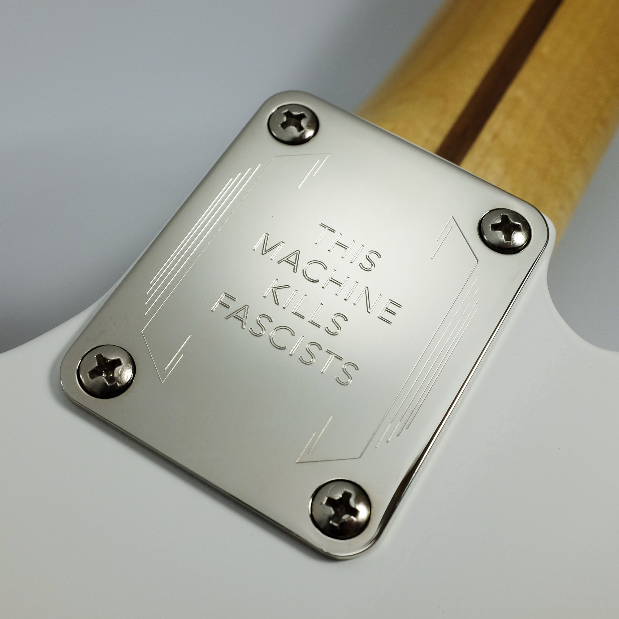 THIS MACHINE KILLS FASCISTS - Engraved Neckplate