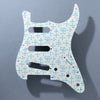 Eames Dots - Stratocaster Pickguard - Daphne Blue on Ivory
