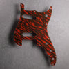 Tiger Tide - Duosonic S/S Pickguard - Mars Red on Brown Acrylic