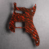Tiger Tide - Duosonic H/S Pickguard - Mars Red on Brown Acrylic