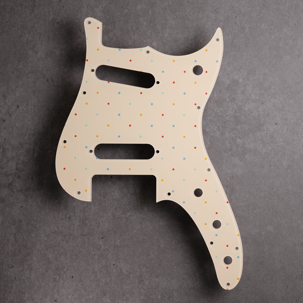 Dots at the Beach - Duosonic S/S Pickguard - in  Ivory