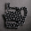 Eames Dots - Jaguar Pickguard - Black/White/Black