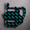 Whistle Bait - Jaguar Pickguard - Sherwood Metallic Green on Black Acrylic