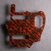 Tiger Tide - Jaguar Pickguard - Mars Red on Brown Acrylic