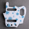 Atomic Age - Jaguar Pickguard - Ice Blue Metallic on White