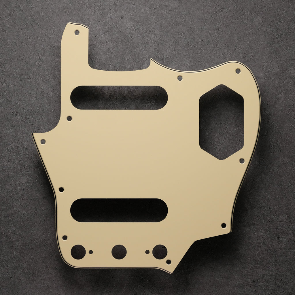 Cream/Black/Cream - Jaguar Pickguard - 3-ply Vinyl