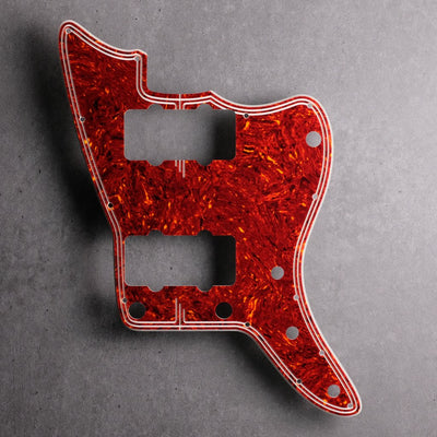 Streamline - Jazzmaster Pickguard - in Tort Mars Red - 4-ply Celluloid