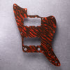 Tiger Tide- Jazzmaster Pickguard - Mars Red on Brown