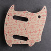 Eames Dots - Mustang S/S Pickguard [Offset Series] -  Coral on Ivory Acrylic