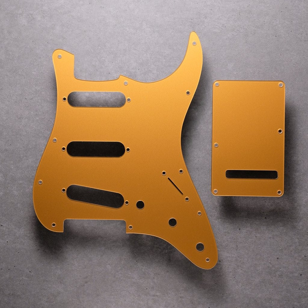 Deep Gold - Stratocaster Pickguard and Tremolo Cover - Acrylic