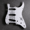 Broken Arrow - Stratocaster Pickguard - White/Black/White