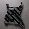 Three Stripes - Stratocaster Pickguard - Black/White/Black