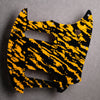 Mustang S/S Pickguard [Offset Series] - Tiger Tide - Yellow on Black