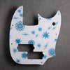 Atomic Age - Mustang Bass PJ Pickguard - on White Acrylic