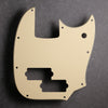 Cream/Black/Cream - Mustang PJ Bass Pickguard - 3-ply Vinyl