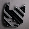 Three Lines - Mustang PJ Bass Pickguard - Black/White/Black